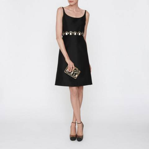 L K Bennett Black Odine Embellised Dress