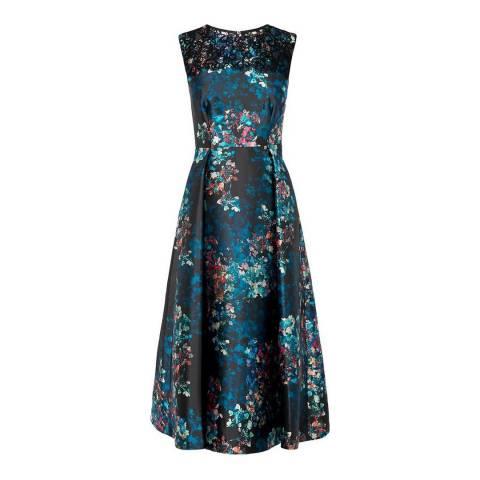 L K Bennett Black/Multi Kensal Print Dress
