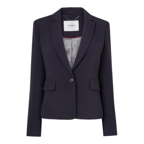 L K Bennett Navy Cleora Tailored Jacket