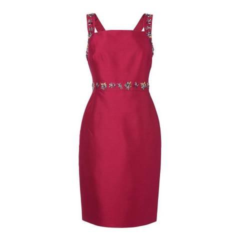 L K Bennett Red Kent Embellished Dress