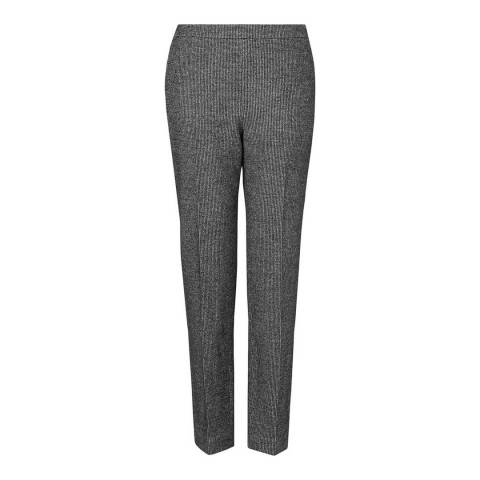 L K Bennett Black/Cream Zenda Tapered Trousers