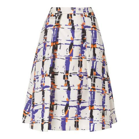 L K Bennett Multi Coney Printed Skirt