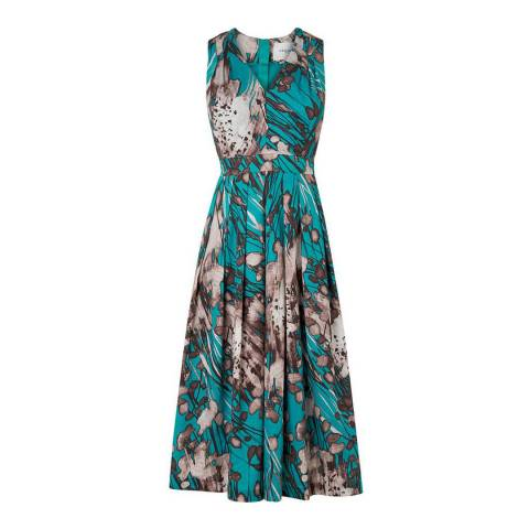 L K Bennett Blue/Multi Cortona Printed Dress