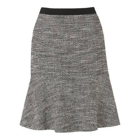 L K Bennett Black/Cream Cynthia Tweed Skirt