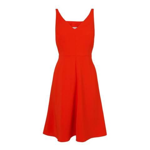 L K Bennett Satsuma Orange Laverne Sleeveless Dress