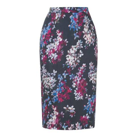 L K Bennett Multi Floral Debra Printed Pencil Skirt