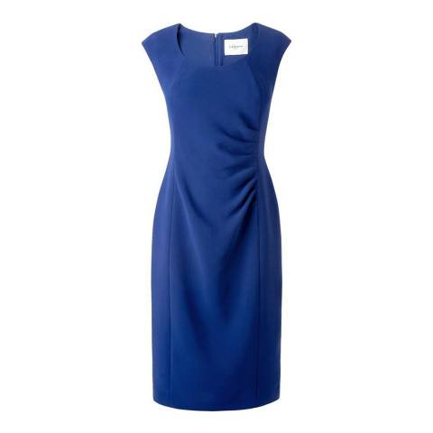 L K Bennett Blue Roxa Fitted Dress