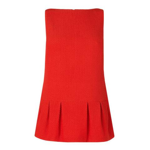L K Bennett Red Dianna Textured Top