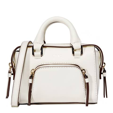 DKNY Cream Leather Mini Satchel