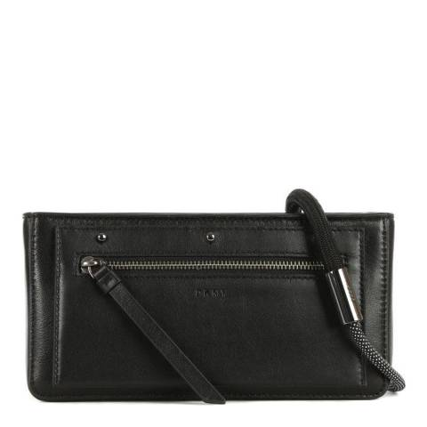 DKNY Black Leather Clutch  Bag