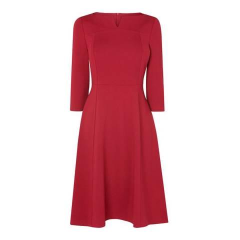 L K Bennett Red Lima Ponti Dress