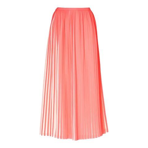 L K Bennett Pink Sasoona Pleated Skirt