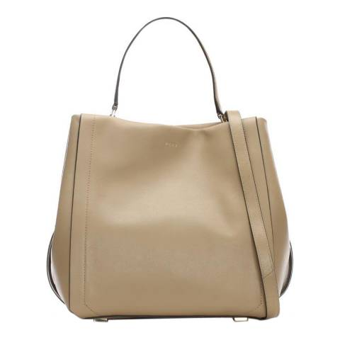 DKNY Beige Leather Greenwich Bucket Bag