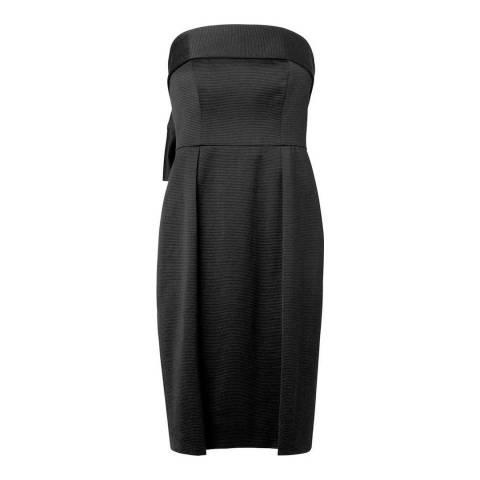L K Bennett Black Setif Bow Back Straples Dress