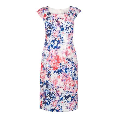 L K Bennett Pink Hannah Printed Shift Dress