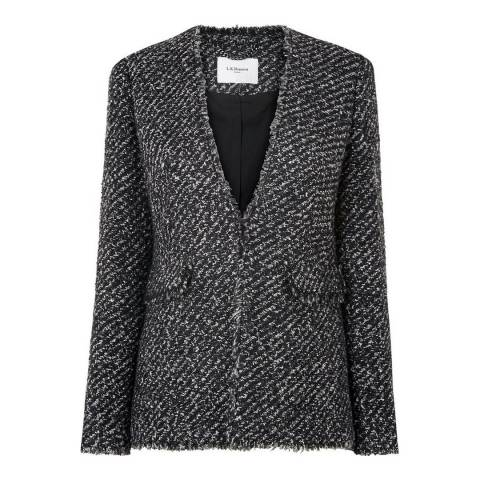 L K Bennett Black/Cream Malen Tweed Jacket