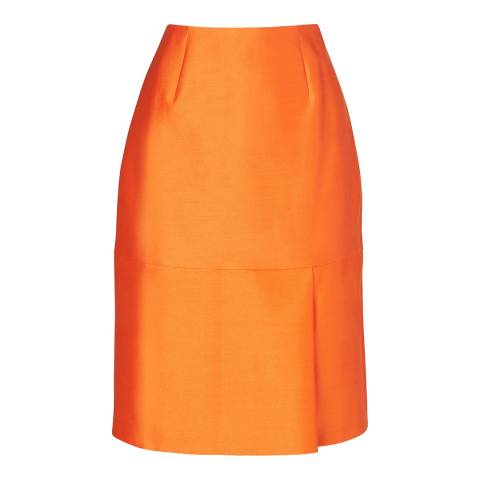 L K Bennett Orange Hazel Mini Skirt