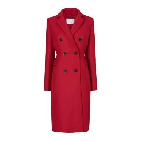 L K Bennett Red Caleste Wool Blend Coat