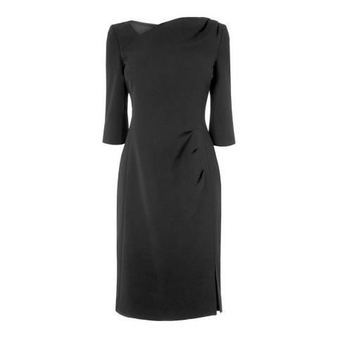 L K Bennett Black Mariana Pleat Dress