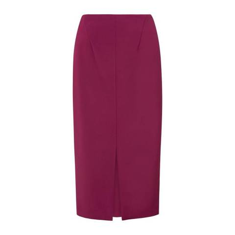 L K Bennett Dark Pink Calia Split Skirt