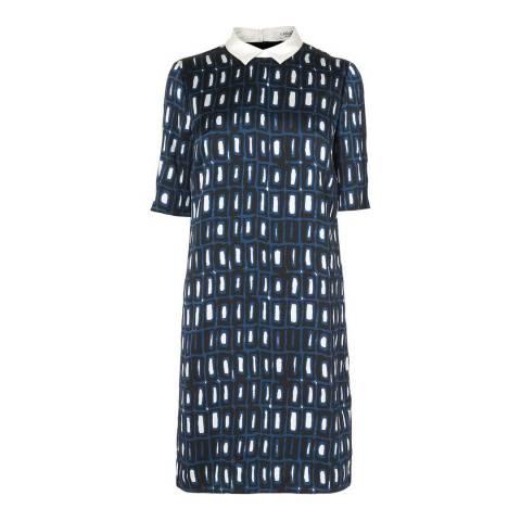 L K Bennett Navy Thyme Belted Shirt Dress