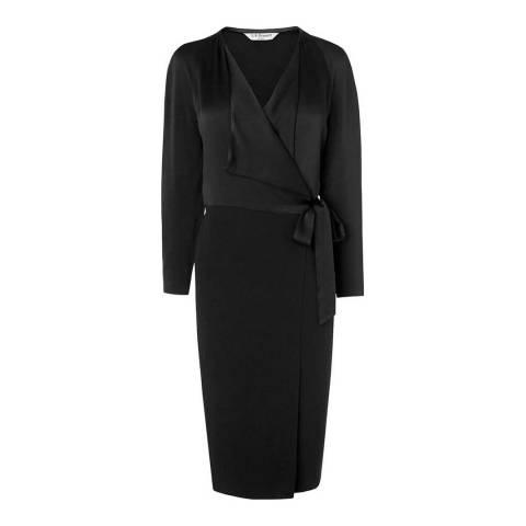 L K Bennett Black Callie Wrap Dress