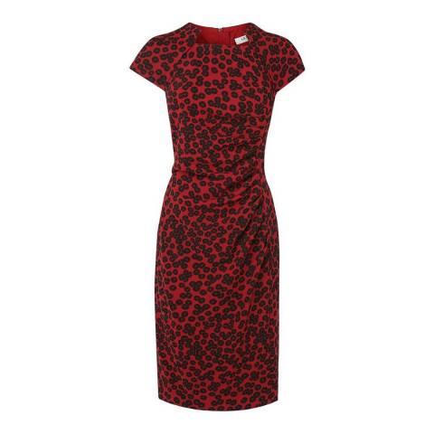 L K Bennett Red Marin Printed Dress