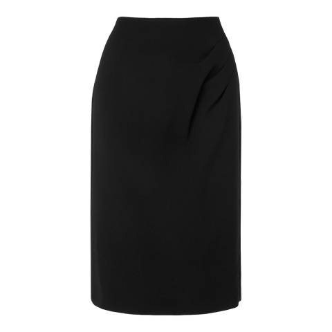 L K Bennett Black Jesa Ruched Skirt
