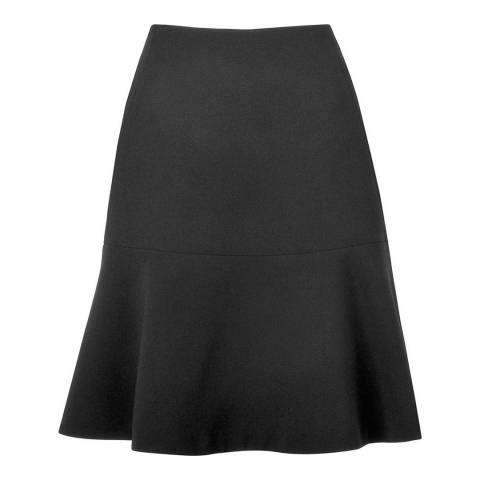 L K Bennett Black Cayenne Fluted Skirt