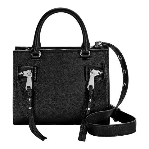 Rebecca Minkoff Black Leather Small Geneva Bag