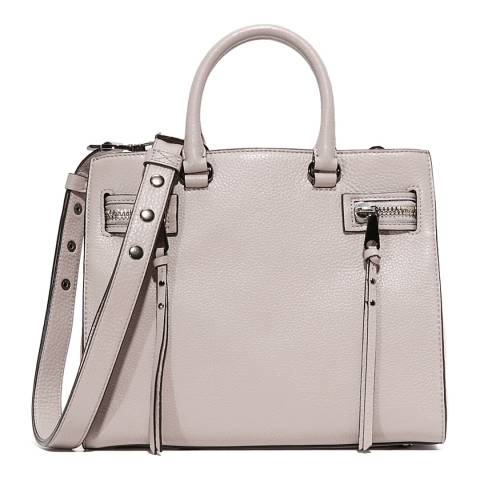 Rebecca Minkoff Putty Leather Geneva Satchel Tote Bag