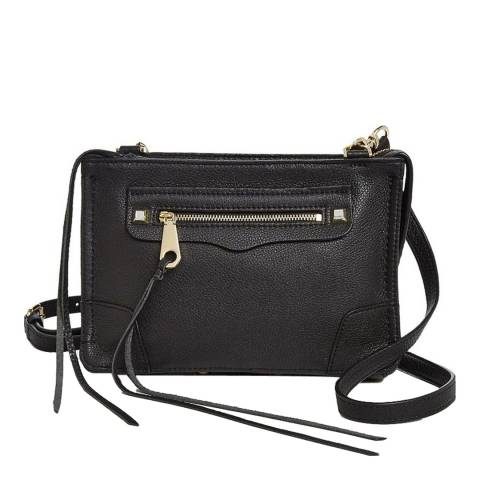 Rebecca Minkoff Black Leather Regan Crossbody Bag