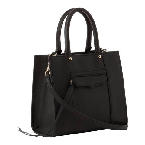 Rebecca Minkoff Black Leather Mini Tote Bag