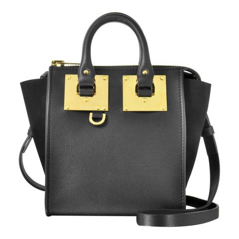 Sophie Hulme Black Leather Small Holmes North South Tote Bag