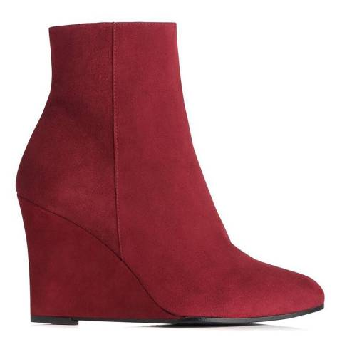 L K Bennett Mulberry Elissa Suede Ankle Boots
