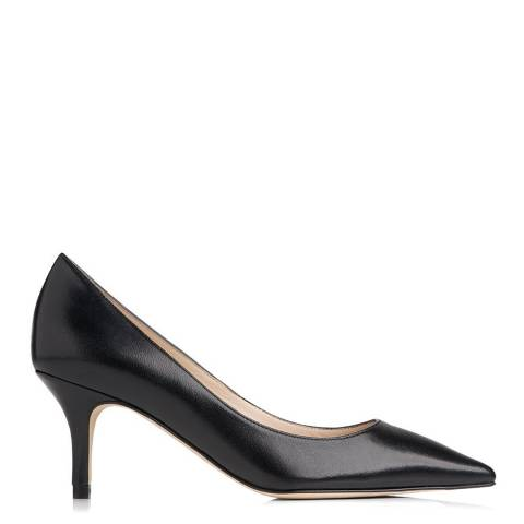 L K Bennett Black Florisa Leather Court Heels