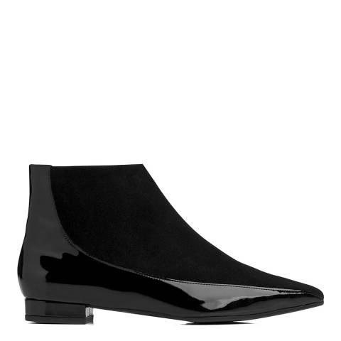 L K Bennett Black Suede Blend Alis Ankle Boots