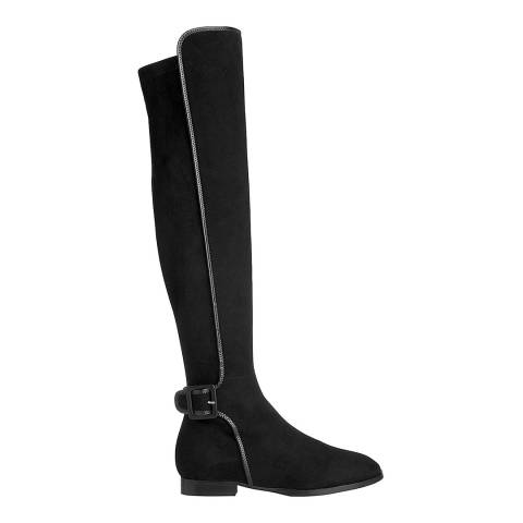 L K Bennett Black Leather Blend Delila Knee Boots