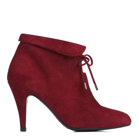 L K Bennett Mulberry Suede Blend Ankle Boots