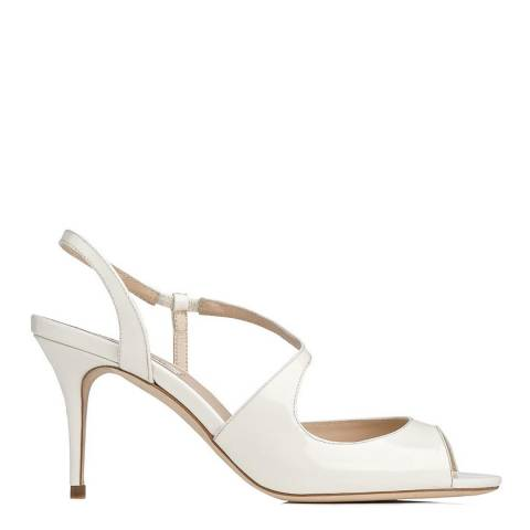 L K Bennett Ivory Patent Leather Palmita Sandals