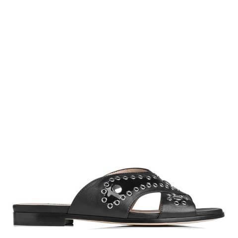 L K Bennett Black Sienna Leather Sandals