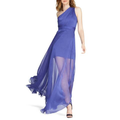 Halston Heritage Blue One Shoulder Gown