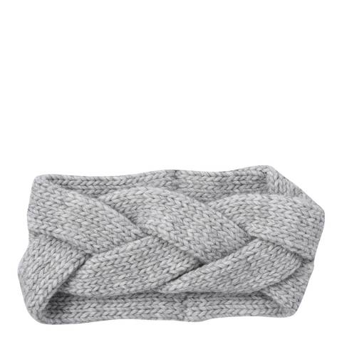 Laycuna London Grey Cashmere Blend Chunky Head Band
