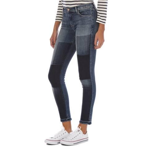 J Brand Blue Mid Rise Reunion Skinny Jeans