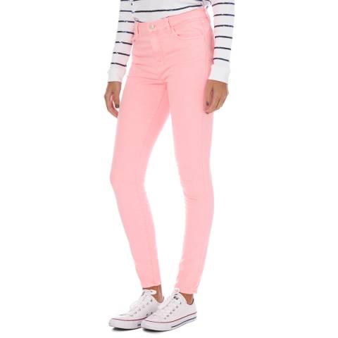 J Brand Pink Maria High Rise Skinny Jeans