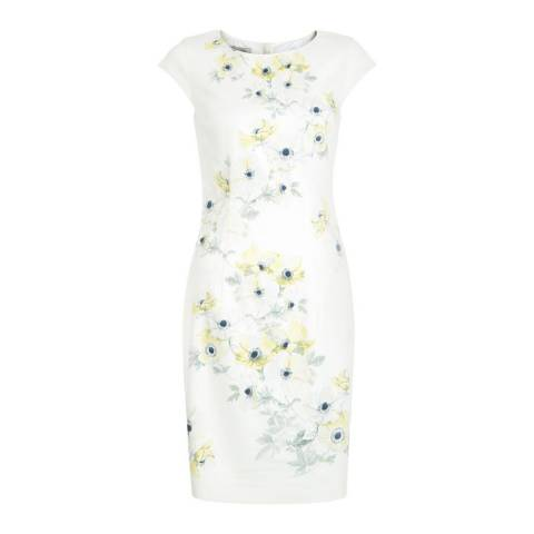 Hobbs London Multi/Yellow Maiya Cotton Blend Dress