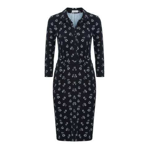 Hobbs London Black/White Anna Shirt Dress