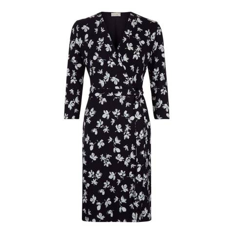 Hobbs London Ivory/Ink Robyn Dress