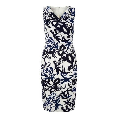 Hobbs London Ivory/Ink Marnie Dress