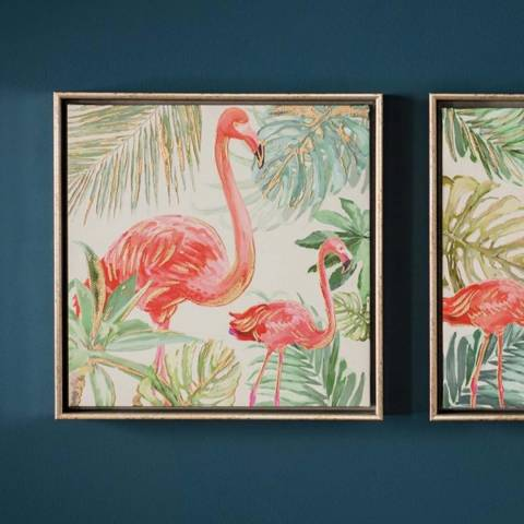 Gallery Pink Flamingo I Framed Art 32.5x32.5cm